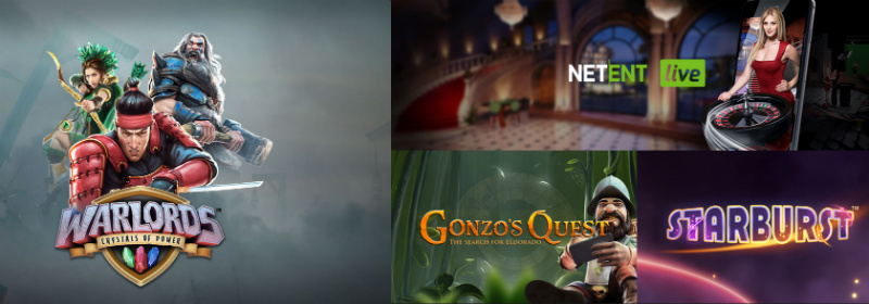 NetEnt Casinos and Games selection