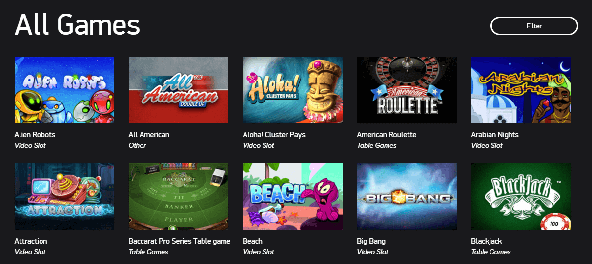 netent game selection